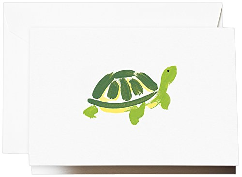 - Crane & Co. Brushstroke Turtle Note (CF1501)