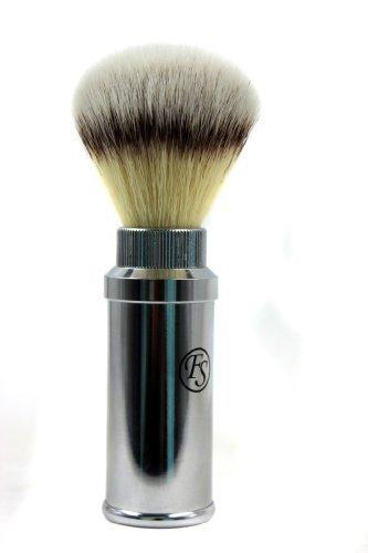 FS Synthetic Hair Brush Travel Chrome Aluminum Case 20 mm knot by Frank Shaving