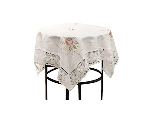 Birchbark Tablecloth 36x36 inches Square White Cloth Lace for Home Wedding Party for Round Table and Square Table