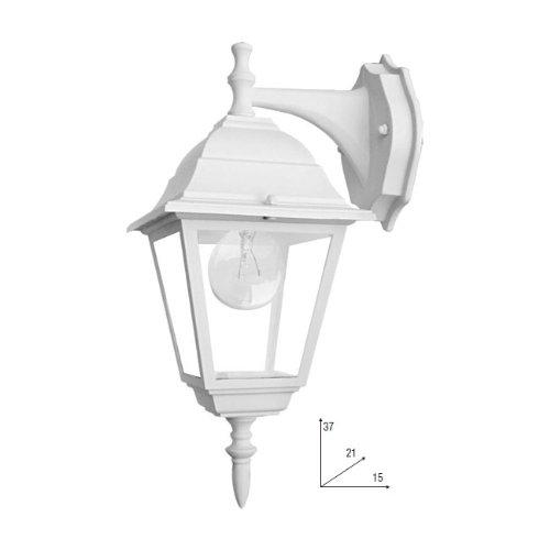 Lanterne Bianche Da Esterno.Fan Europe Roma Lant Ap1b Bco Lanterna Applique A Tenuta Stagna E27