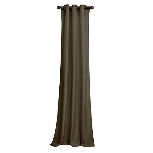 Velvet Eyelet - BRIGHTLINEN Vintage 100% Velvet 50 by 144 inches Thick Blackout Elegant Ring Top Eyelet Velvet Curtains Mocha