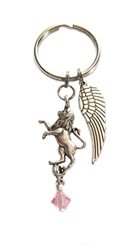 (Archangel Ariel Lion-hearted Protecting Mother Earth and the Environment Keychain, Bag Charm, Angel Gift)