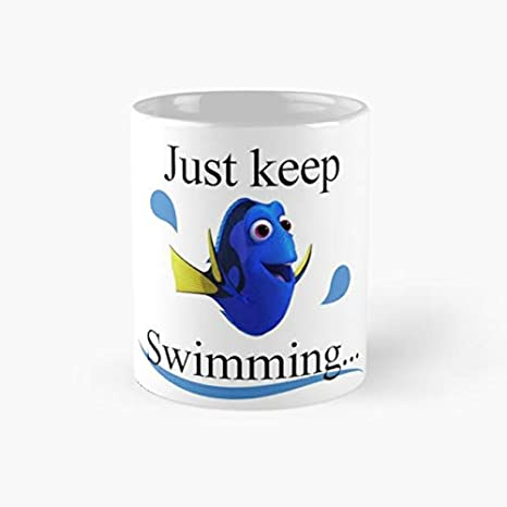 Mug Swimming Ounce Perfect CupsCoffee Just Funny Novelty Ceramic Finding Mugs11 Dory Tea 11oz MugNemo Gift Keep rBdxeWQoC