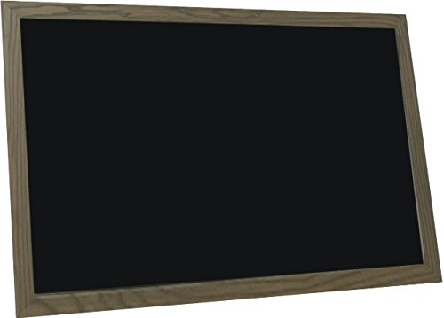 billyBoards 24x36 chalkboard. Rustic brown frame finish. Restaurant menu style. No chalk tray. Wood composite writing panel- black. 1.5'' wood frame.