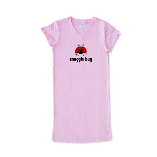 CafePress - Snuggle Bug Ladybug Women's Nightshirt - Women's Nightshirt, Soft Long Pajama Shirt, Cotton PJs / Pyjamas