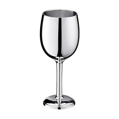Pewter mirror finish wine goblet stands 6