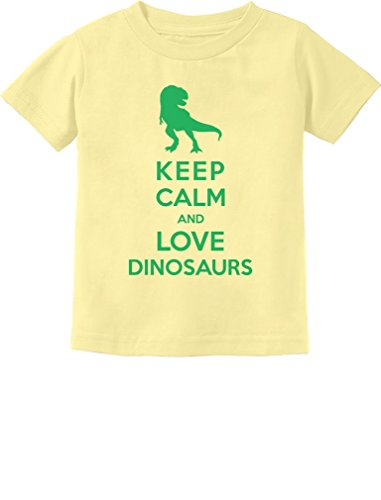 Keep Calm Love Dinosaurs T-Rex Children's Gift Toddler/Infant Kids T-Shirt 5/6 Banana -