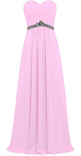 Bustier En Mousseline De Soie Femmes De Fourmis Longues Robes Rose Pour Soirée