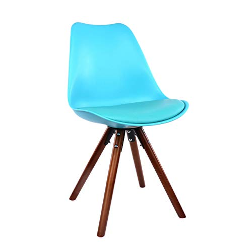 Design Lab MN LS-1000-BLUWAL Dining Side Chair, Blue Seat