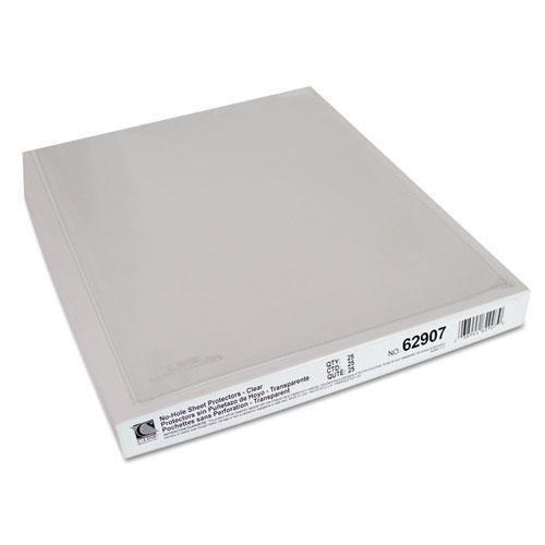 "C-Line No-Hole 11 x 8 1/2"" Polypropylene Sheet Protectors - 25/BX"