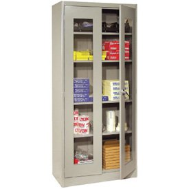 Steel Visible Storage Cabinets - 78''h x 36''w x 18''d, Grey by Emedco