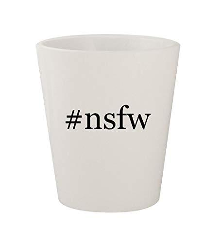 #nsfw - Ceramic White Hashtag 1.5oz Shot Glass