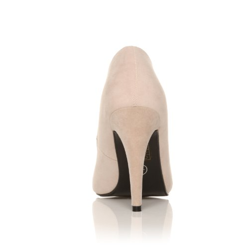 DARCY - Chaussures à talons hauts - Stiletto - Bout pointu - Nude - Effet daim
