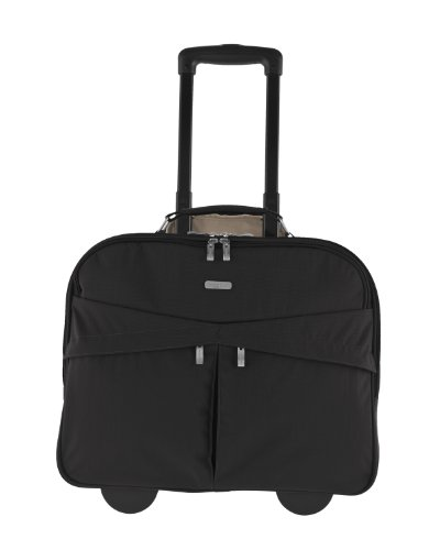 Baggallini Skyline Rolling Briefcase, Black, One Size