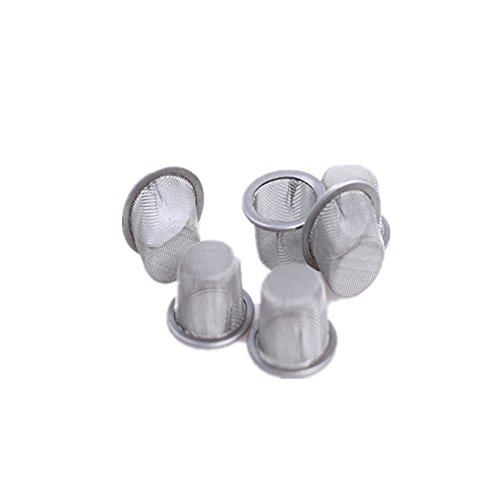Crystal Screen - Yujianni 6pcs 0.5inch Diameter Crystal smoking pipe stainless steel mental screen filter for crystal quartz tobacco pipe use