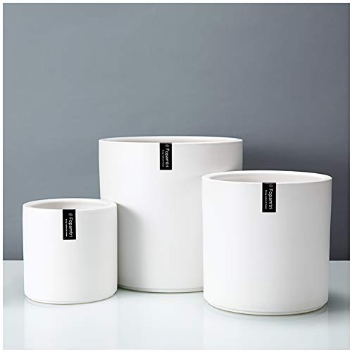 Plant Pot Set by Fopamtri Matte White Ceramic Planter for Indoor Outdoor Plants Flowers Small 6