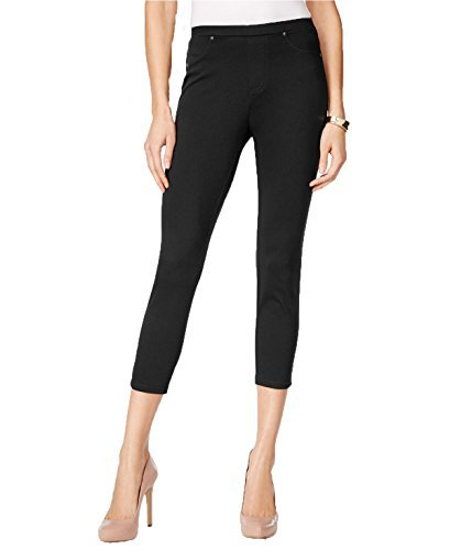 Style & Co. Twill Capri Leggings (Deep Black, M)