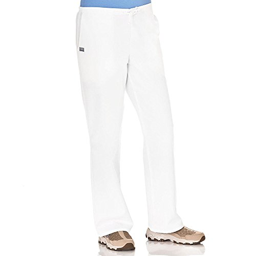 Fundamentals by White Swan Women's Drawstring Elastic Waist Scrub Pant XX-Large Tall White