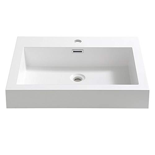 """Fresca Nano 24"""" White Integrated Sink with Countertop"""