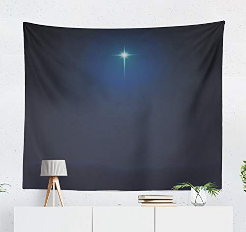 (threetothree 50x60 Inches Tapestry Wall Hanging Interior Decorative Stock Star Birth Jesus Christ Nativity Christmas Night Mary for Bedroom Living Room Tablecloth Dorm)