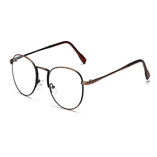 Marco Moda Vintage Eyewear Bronce Computadora Gafas Claro Redondas Hombre Lente Xinvision Retro Mujer nRFSwqqI