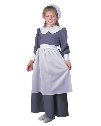 [Rubie's Costume Co - Pilgrim Girl Child - 4-6, SMALL, Gray / White] (Colonial Dress For Girls Costumes)