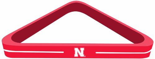 Imperial Officially Licensed NCAA Merchandise: Wood Triangle Billiard/Pool Ball Rack, Nebraska Cornhuskers
