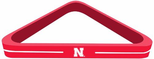 Licensed Ncaa Billiard Pool Cue - Imperial Officially Licensed NCAA Merchandise: Wood Triangle Billiard/Pool Ball Rack, Nebraska Cornhuskers