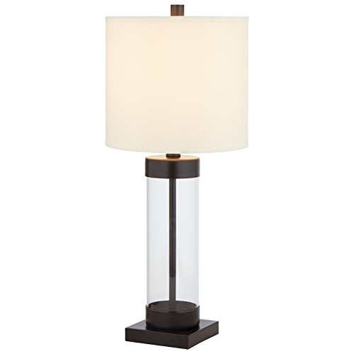 Black Table Lamp Column (Stone & Beam Glass Column Black Table Lamp, 23