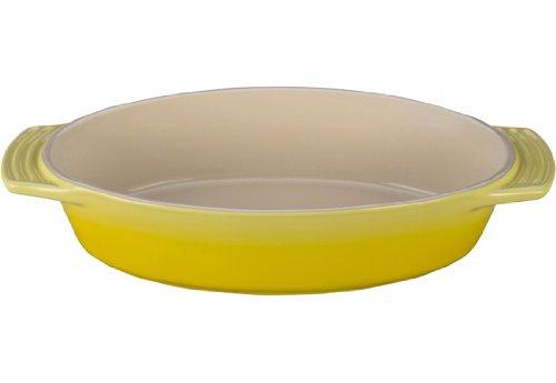 Le Creuset Stoneware Oval Dish, 1-3/4-Quart, (Yellow Oval Baking Dish)