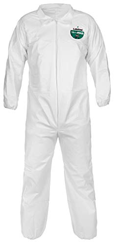 Lakeland MicroMax NS Microporous General Purpose Coverall, Elastic Cuff, X-Large, White (Case of 25) by Lakeland Industries Inc (Image #4)