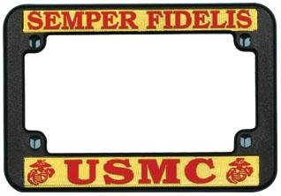 Mitchell Proffitt M01 United States Marines Motorcycle License Plate Frame Plastic