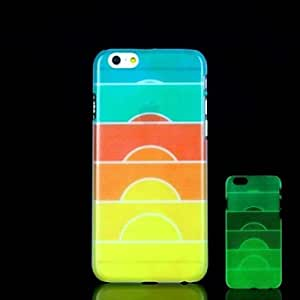 QHY Sunrise Cup Pattern Glow in the Dark Hard Case for iPhone 6