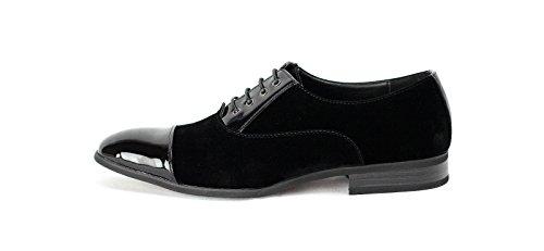 Hombre Formal Ante Negro Inteligente Zapatos Con Cordones