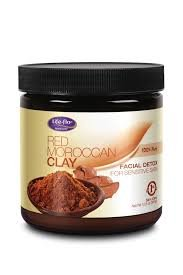 Red Moroccan Clay (Unscented) Life Flo Health Products 12.5 oz Powder