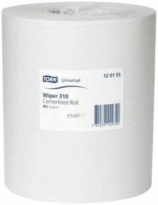 Tork Wischtücher Universal 310 1-lagig 20cmx300m unperforiert weiß VE=6 Rollen