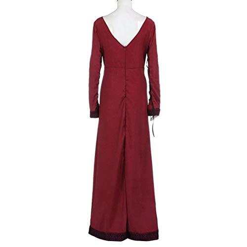 Manica a Costume Principessa Rosso Vestito Rinascimentale Lunga ORANDESIGNE Medievale Cosplay Gotico Donna Vestito ZtapIa