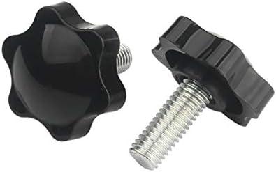 Apprehension M4 M5 M6 M8 Star Hex Shaped Head Clamping Screw Bolts Knob Plastic Carbon Steel Galvanization Hardware Screw 2pcs Length : 80mm Head 38mm Size : M10
