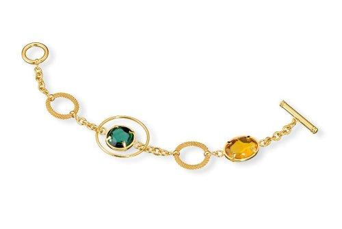 Morellato - S01O603B - Bracelet Femme - Acier PVD Jaune - Maille Milanaise - Pierre Quartz - 20 cm
