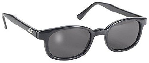 Original X-KD's 20% Larger Polarized Lenses Black Frame Biker Sunglasses
