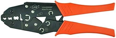 ケーブルカッター 25〜50mm²用圧着ペンチ ラチェット 圧着プライヤー 非絶縁タブ用 ハンドツール 圧着工具 手動ケーブルカッター