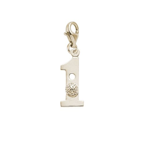 Rembrandt Charms Golf Charm with Lobster Clasp, 14k Yellow Gold 14k Yellow Golf