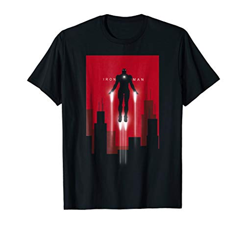 Marvel Iron Man in Flight Deco Art Style Graphic T-Shirt from Marvel
