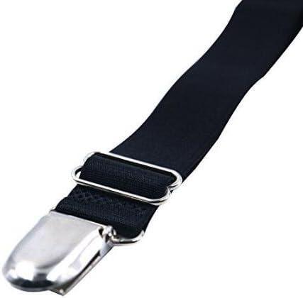 di Reggicalze Elastiche Regolabili con Cinghie e Clip per Calze Black I Style 2 Pezzi Ericotry 1 Paio