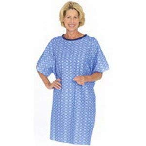 84550BP - Tieback Patient Gown, Blue Plaid, One Size (Tie Gown Patient)