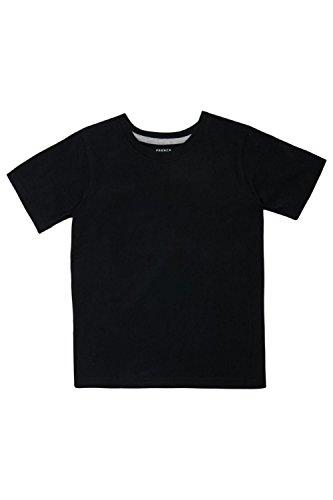 Black Kids T-shirt - French Toast Boys' Big Short Sleeve Crewneck Tee, Black, M (8)