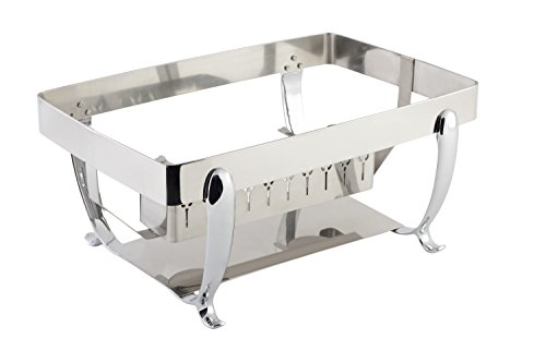 Bon Chef 20305ST Stainless Steel Stand for Rectangular Induction Chafing Dish, 14-5/16