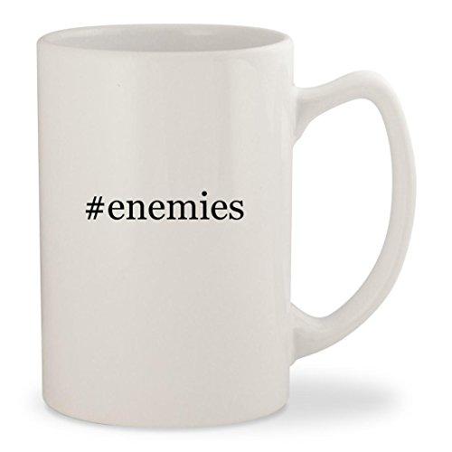 #enemies - White Hashtag 14oz Ceramic Statesman Coffee Mug Cup