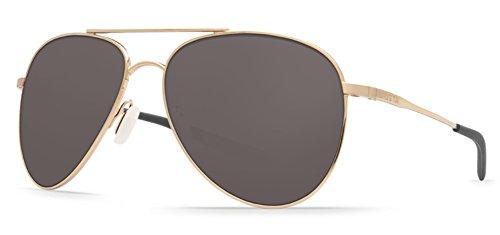 Costa Del Mar Cook Sunglasses Shiny Gold / Gray - Costa Mar Del Sunglasses Used
