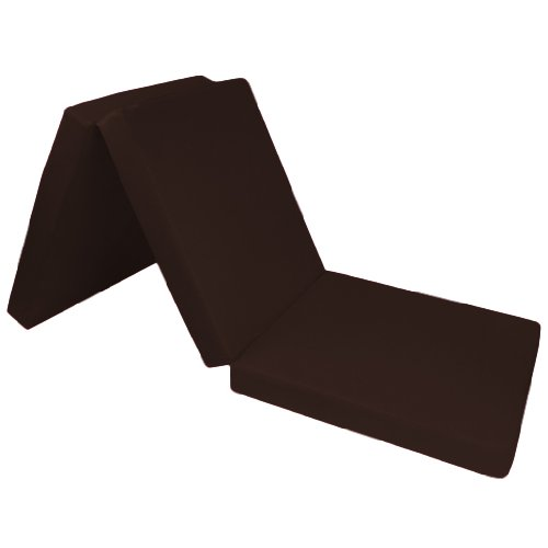 Comfortable 100% Cotton Single Fold Out Cube Bed Chair Stool Pouffe Futon in Chocolate. Soft, Comfortable & Lightweight with a Removeable Cover. Available in 12 Colours. Ready Steady Bed